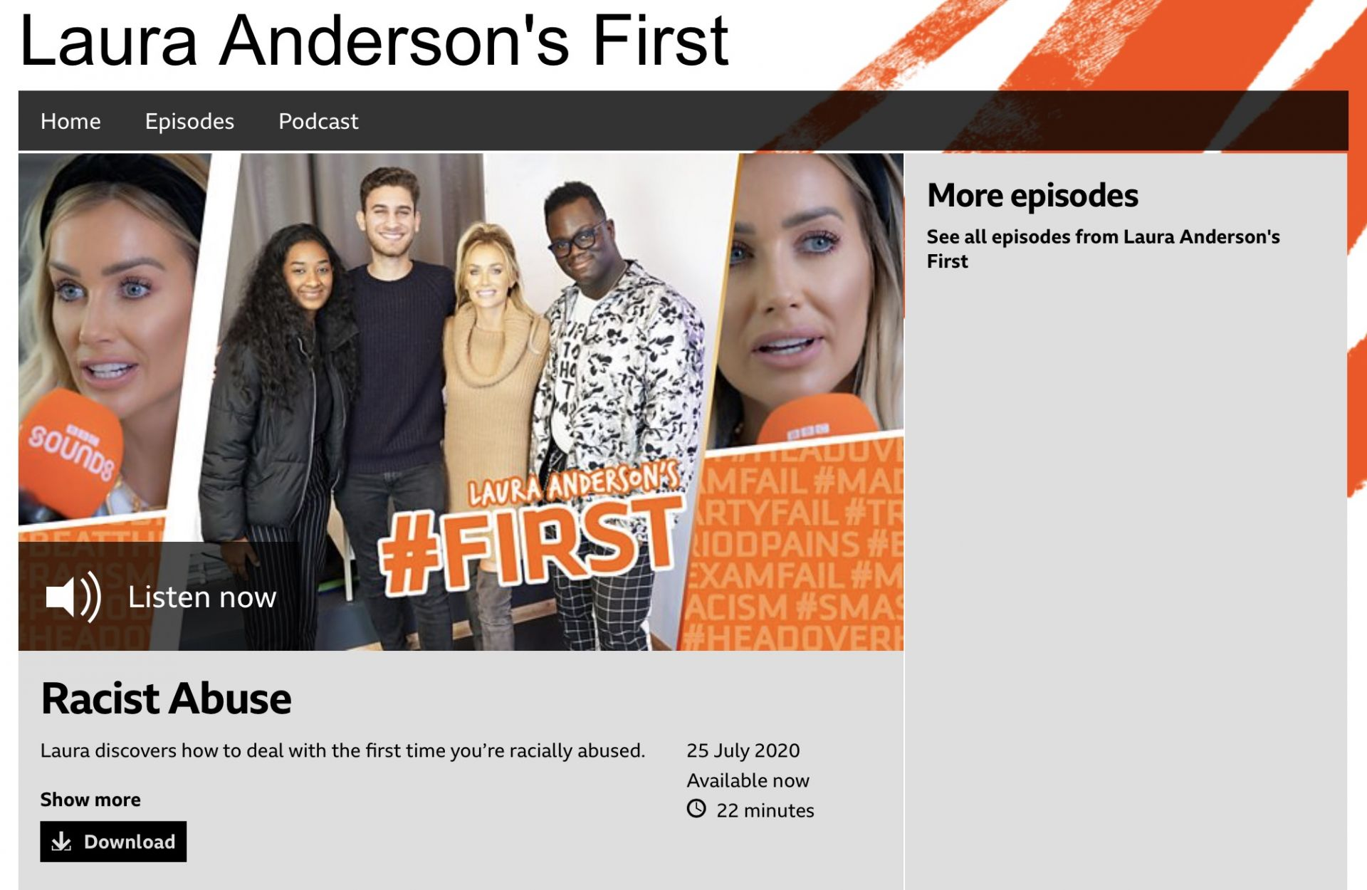 Laura Anderson's First second series launches on BBC Sounds